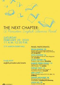 The Next Chapter: A Princeton English Alumni Panel