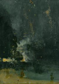 Image of Whistler's Nocturne in black and gold
