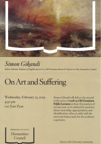 Simon Gikandi: On Art and Suffering lecture