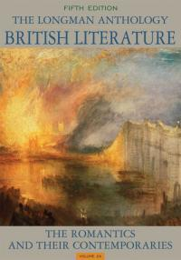 The Longman Anthology of British Literature: The Romantics and Their Contemporaries book cover
