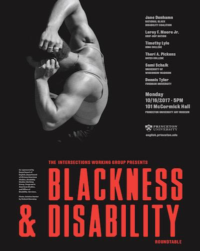 Blackness and Disability Roundtable poster