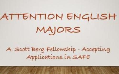 Berg Fellowship announcement