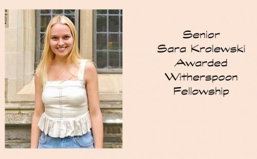 Senior Krolewski receives Witherspoon Scholarship to study in Scotland