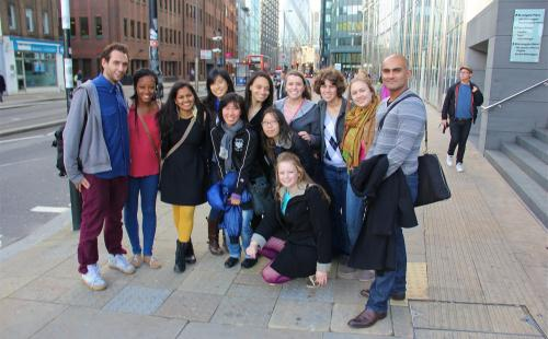 Junior Seminar in London (University College London study abroad program) on a tour, 2012.