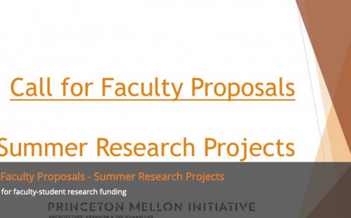 Call for Proposals: Princeton Mellon Initiative in Architecture, Urbanism & the Humanities