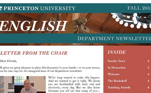 Fall 2015 Department Newsletter