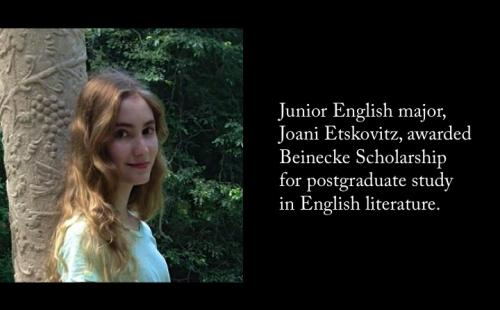 Junior Joani Etskovitz awarded Beinecke Scholarship