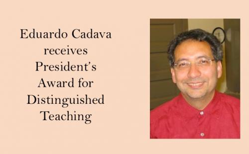 Cadava receives Teaching Award