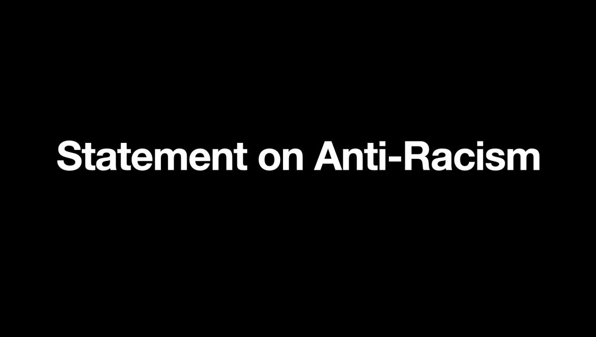 Statement on Anti-Racism banner